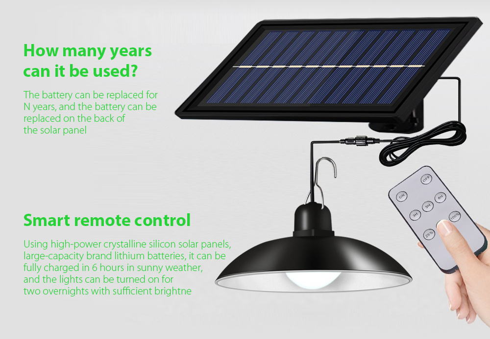 Garden Light Smart Solar Chandelier Smart remote control