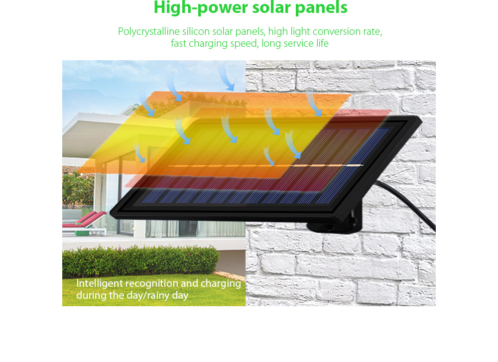 Garden Light Smart Solar Chandelier High-power solar panels