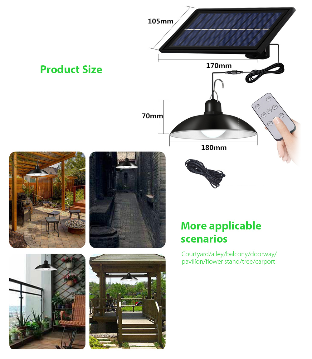 Garden Light Smart Solar Chandelier More applicable scenarios