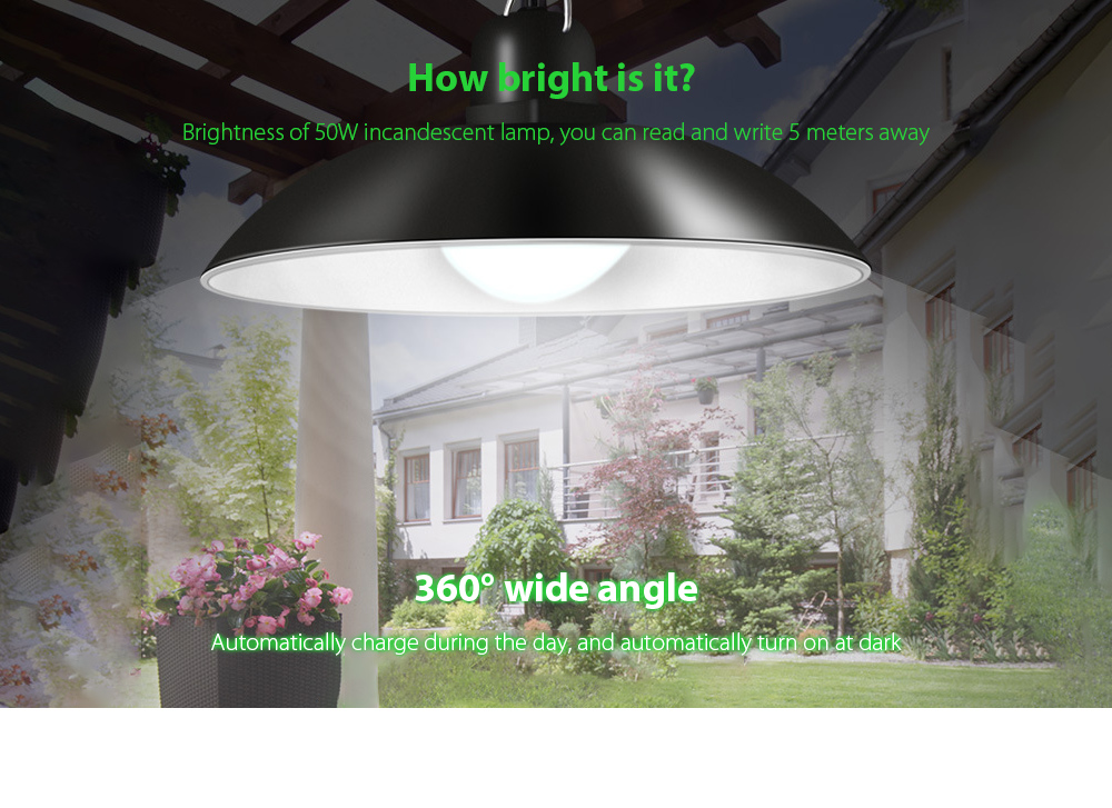 Garden Light Smart Solar Chandelier 360° wide angle