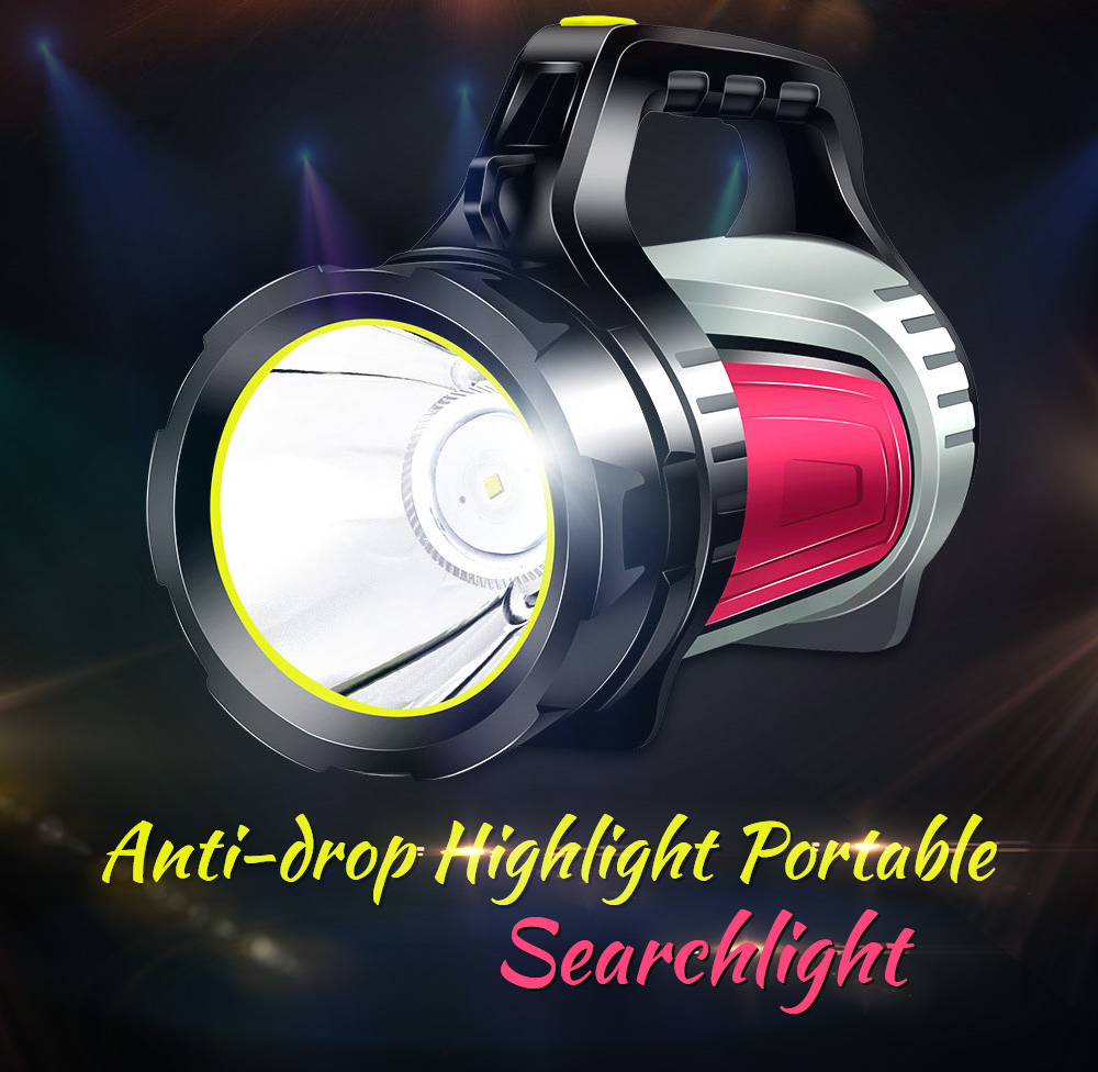 Flashlight Rechargeable Super Bright Long Shot LED Xenon Multi-function Home Outdoor Searchlight Portable Lamp - Black 7028 Anti-drop Highlight Portable Searchlight