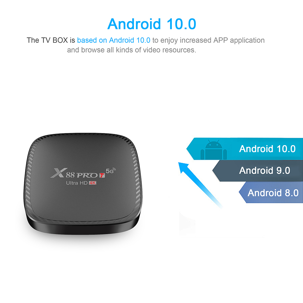 X88 Pro Android 10.0 Smart TV Box - Black 1+8GB US Plug