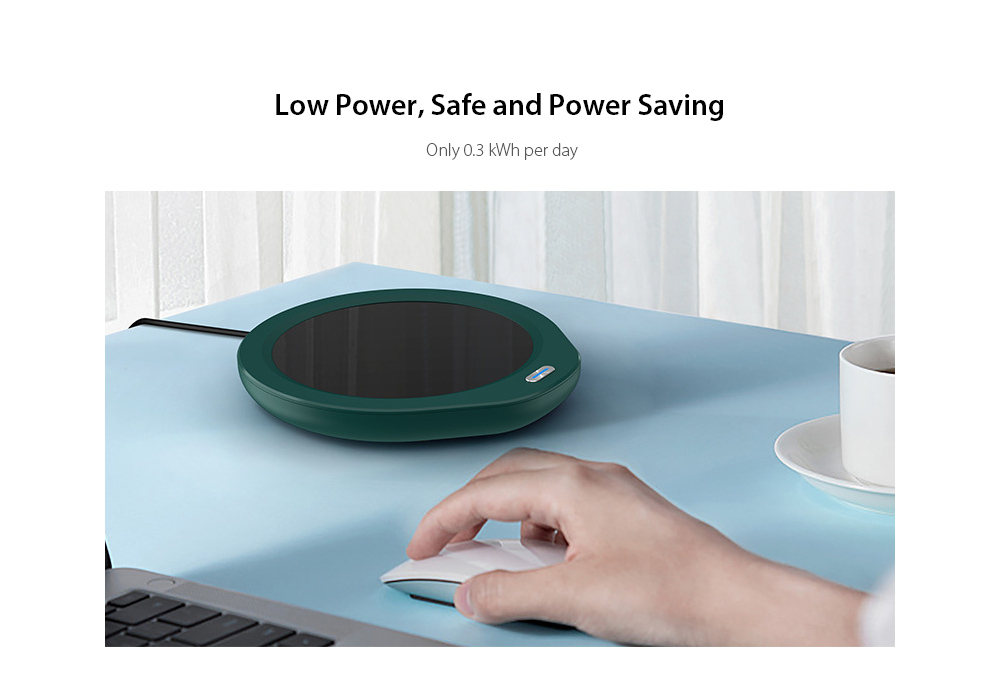 P203 Mug Warmer Heating Pad Temperature 55 Degree Cup Insulation Milk Ceramic Cup Heating Base Domestic Version - Black Low Power, Safe and Power Saving