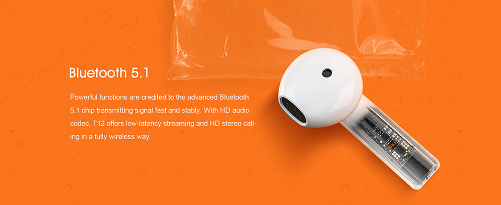 QCY T12 Wireless Bluetooth Headphone - Milk White