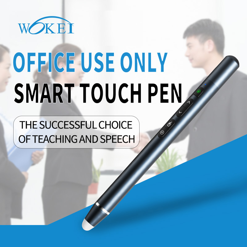 Bilikay Q202 Touch Pen Intelligent Flipping Page Five Buttons Voice Control Air Mouse Turn Page - Black