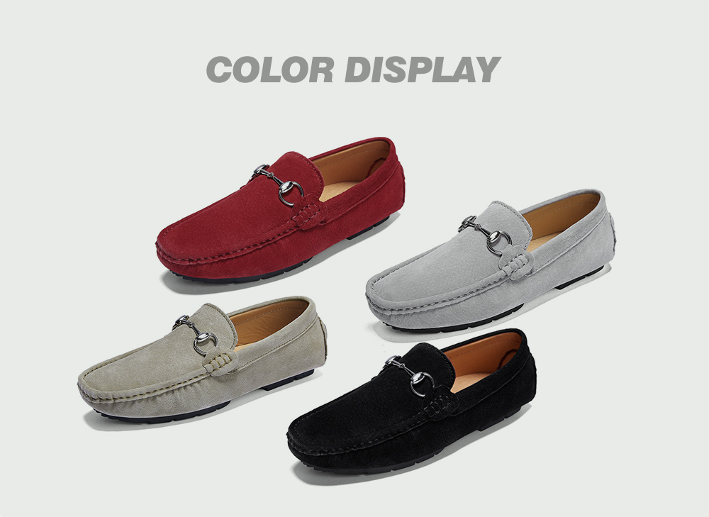 Two-layer Pigskin Men's Shoes Colors