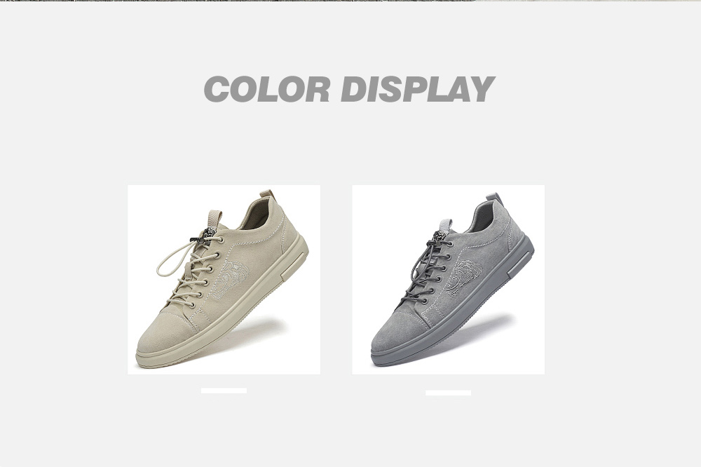 Men's Fashion Matte Elastic Buckle Embroidered Shoes Details