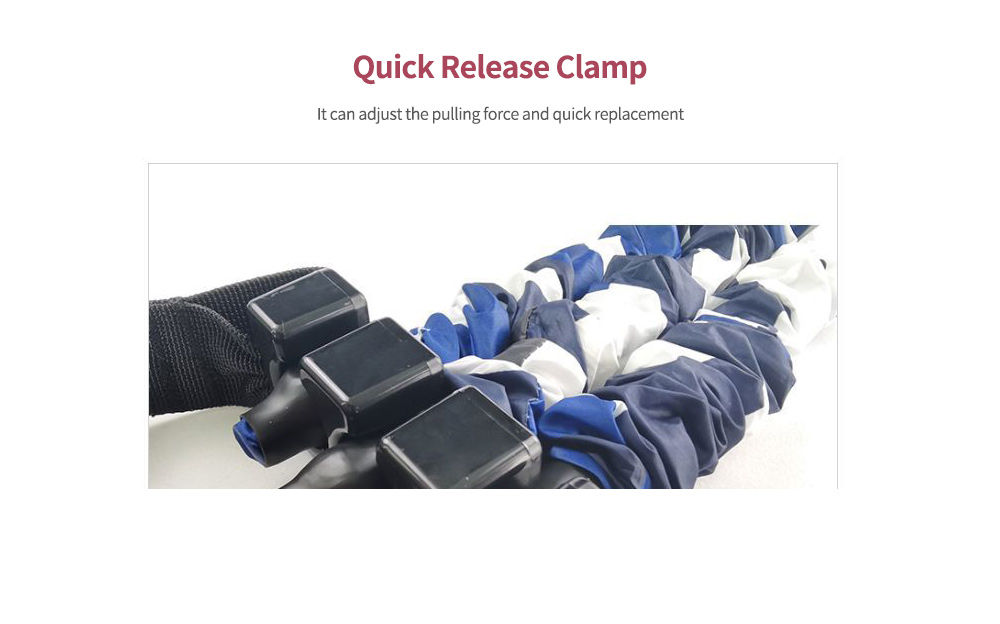 Three-hole Tension Adjustment Resistance Band Clamp