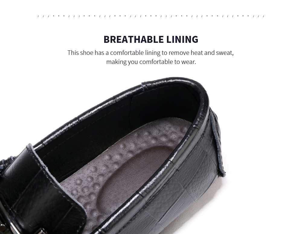 Men's Fashion Leather Soft-soled Casual Peas Shoes Lining