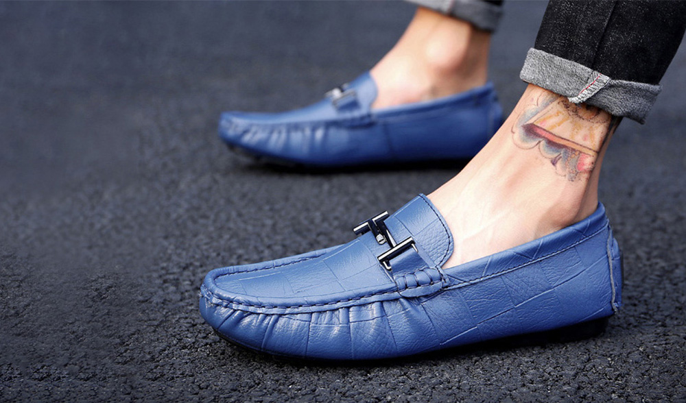 Men's Fashion Leather Soft-soled Casual Peas Shoes