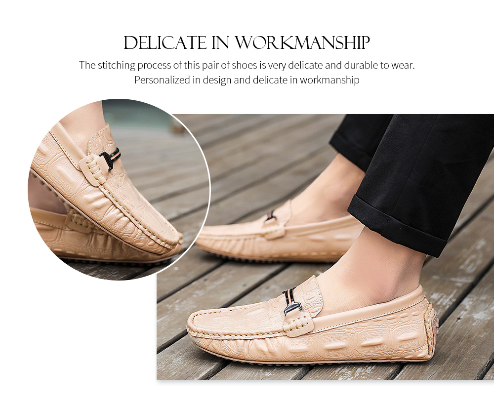 Spring and Summer Men Leather Casual Shoes Workmanship
