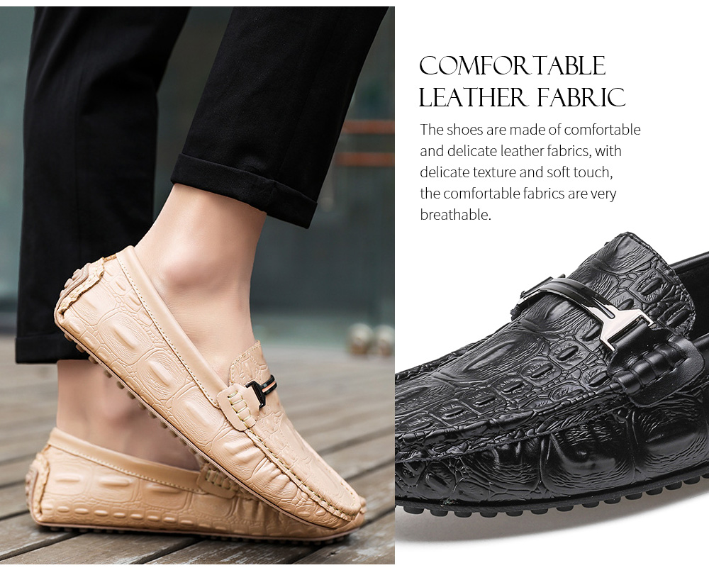 Spring and Summer Men Leather Casual Shoes Fabric