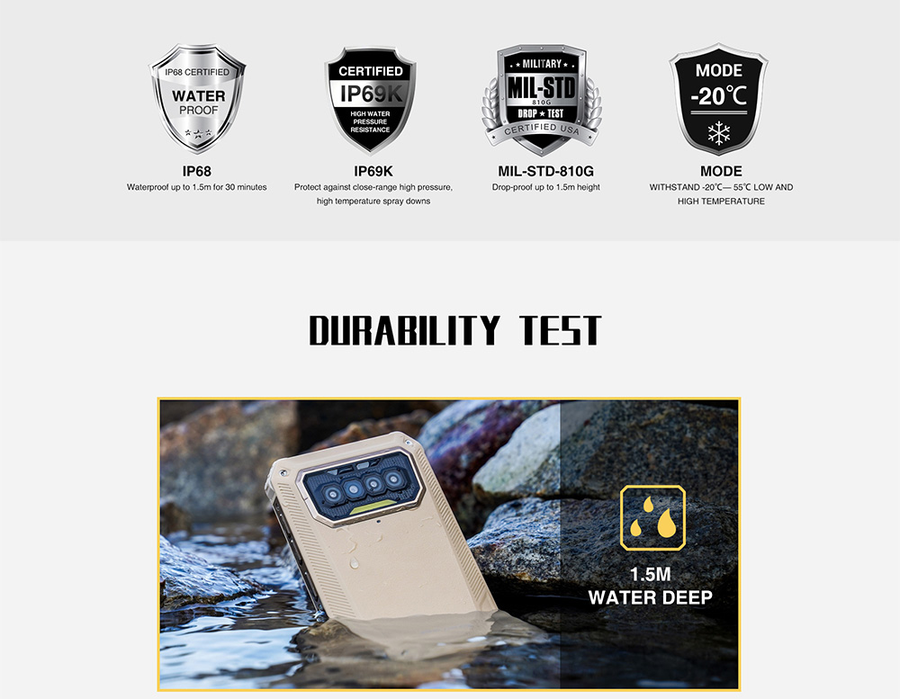 Oukitel Bison 2021 4G Smartphone Rugged Phone Global Version - Black EU Version