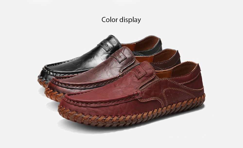 Spring and Autumn Large Size Men's Soft Leather Casual Shoes color