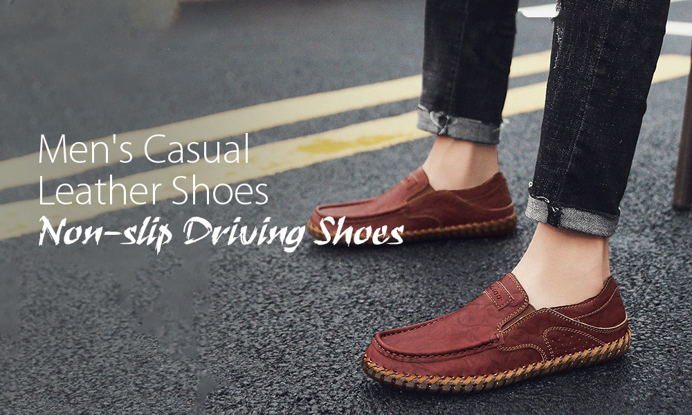 Spring and Autumn Large Size Men's Soft Leather Casual Shoes