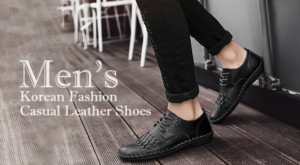 Spring All-match Men's Large Size Casual Leather Shoes