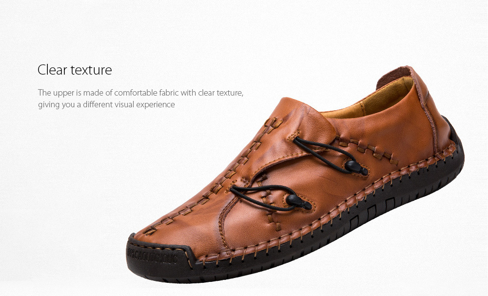 Men's Casual Leather Shoes Clear texture