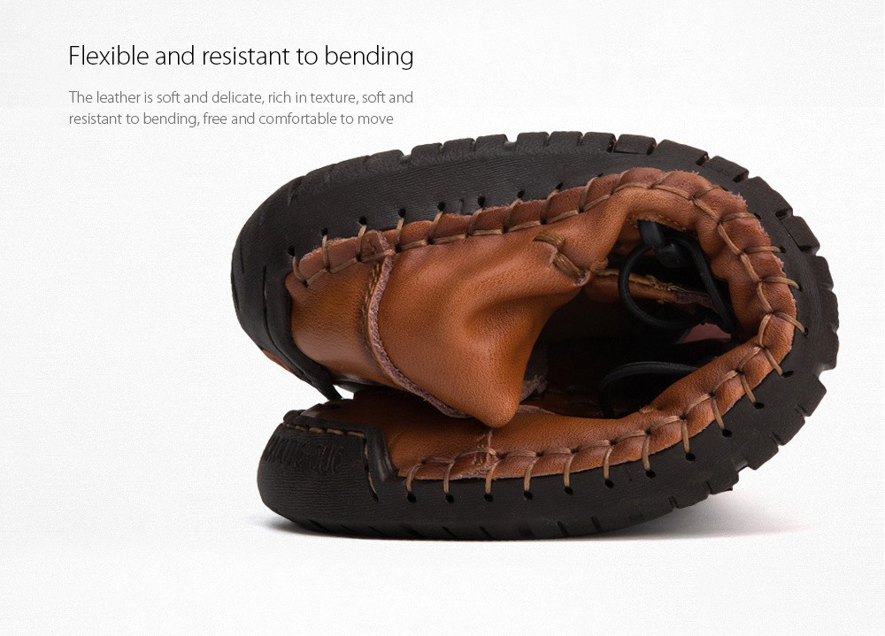 Men's Casual Leather Shoes Flexible and resistant to bending