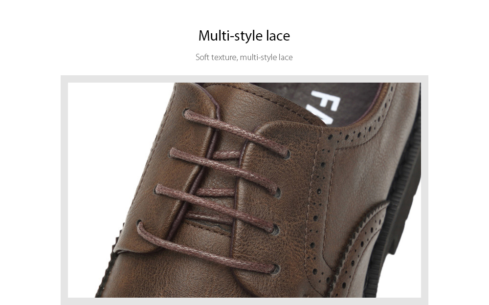 Autumn Carved Brogue Shoes Multi-style lace