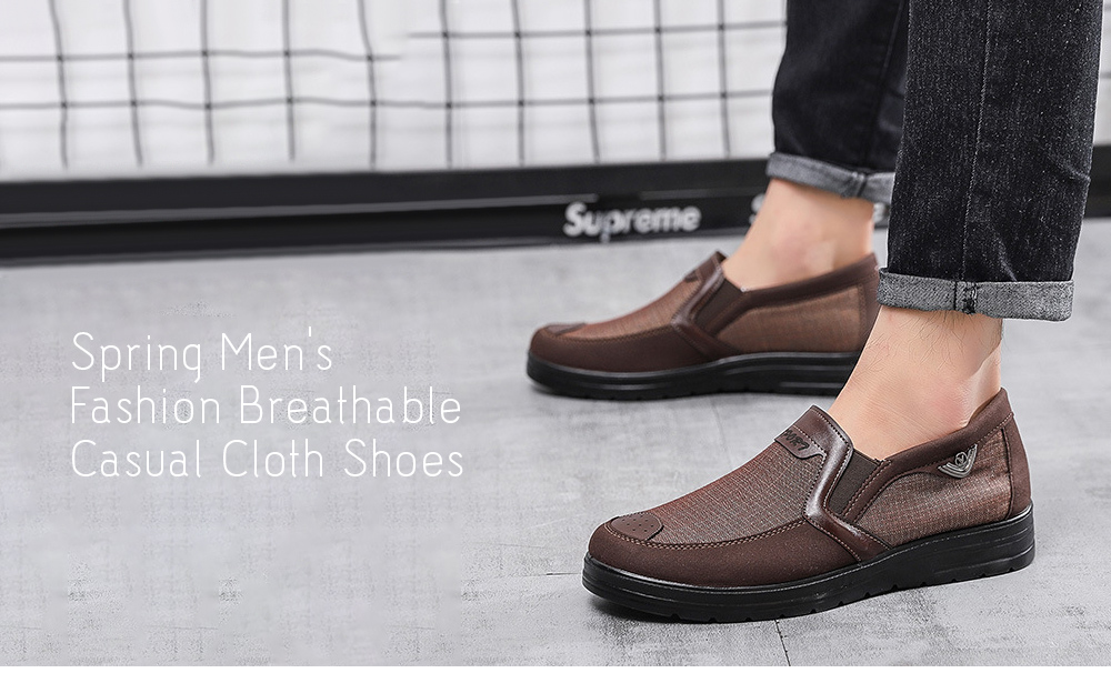 Spring Breathable Casual Men's Shoes - Yellow 46 Spring Men's Fashion Breathable Casual Cloth Shoes