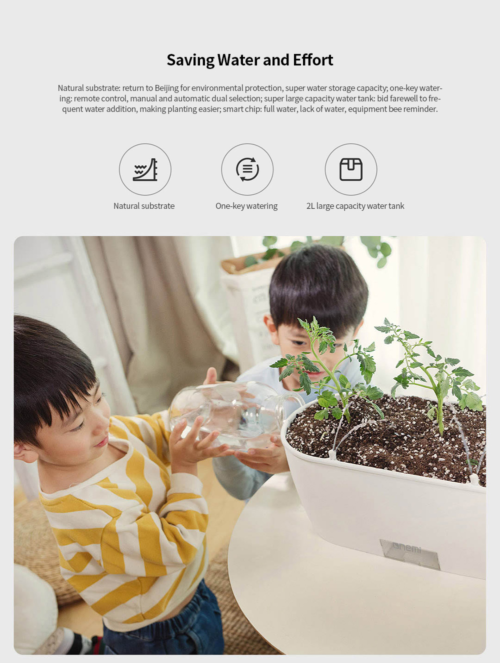 YMT-20201 Smart Flowerpot Field Intelligent Planting Partner Standard Version from Youpin - White