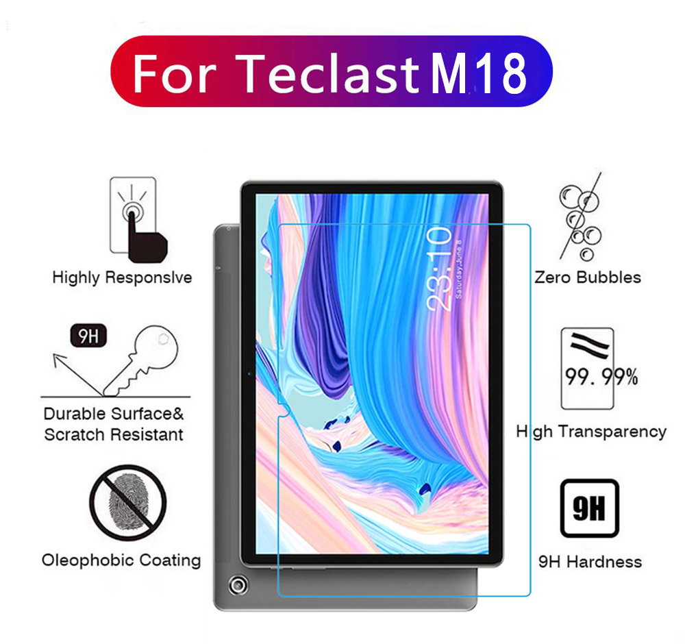 ASLING 0.3mm 9H Tablet PC Tempered Film Screen Protector for Teclast M18 - Transparent