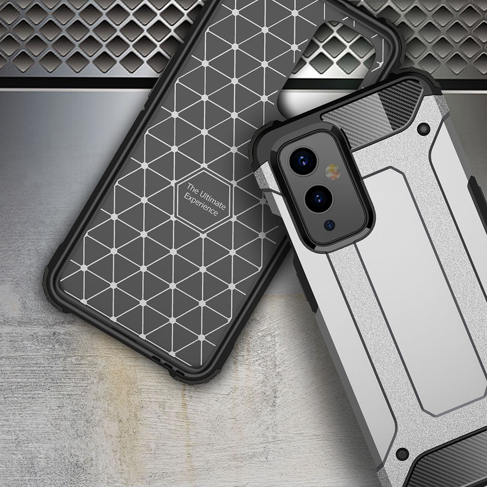 ASLING Diamond Iron Armor Series 360 Degree Protective Phone Case for OnePlus 9 - Rose Gold
