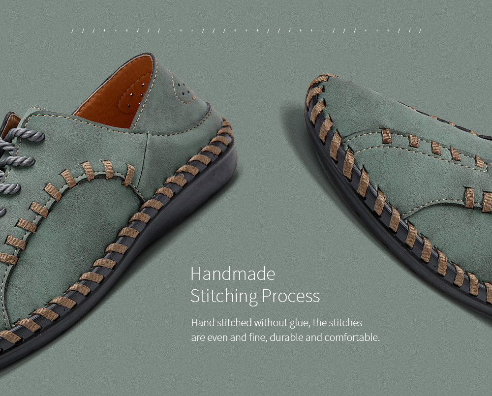 Wide Version Casual Men's Shoes Stitching