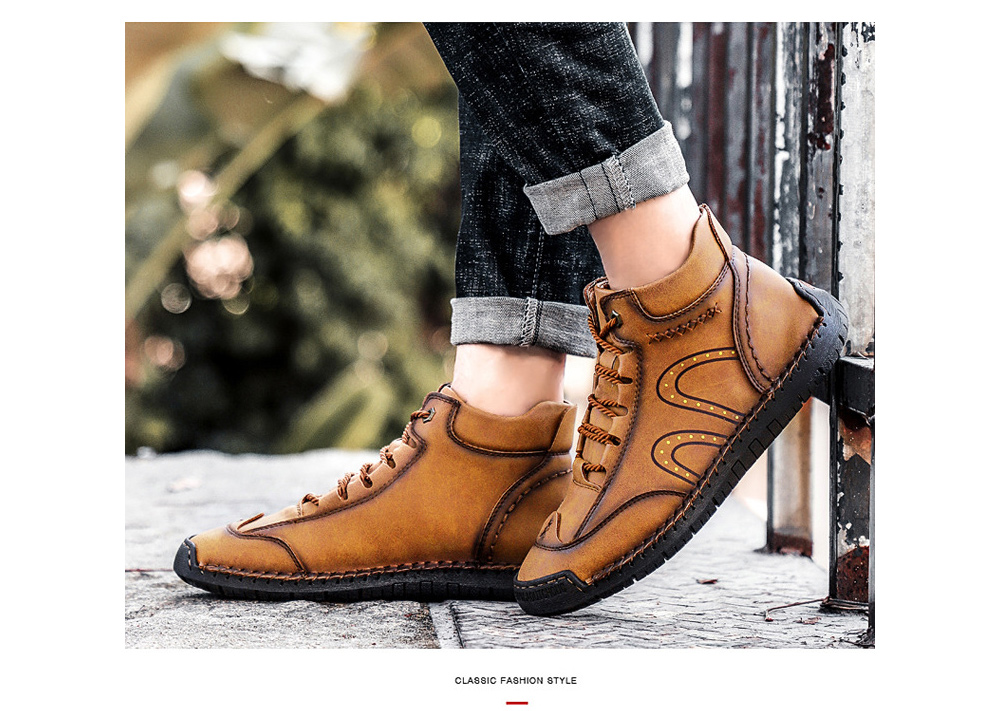 Winter Men's Shoes High Boots