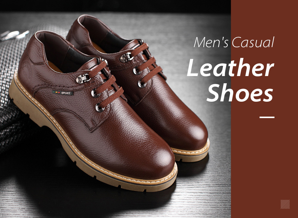 Winter Big Head Men's Casual Leather Shoes