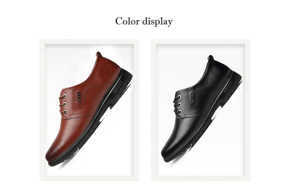 Men's Business Casual Leather Shoes color