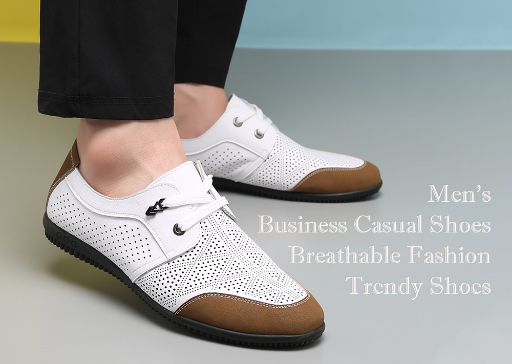 Men's Business Casual Leather Lace Shoes
