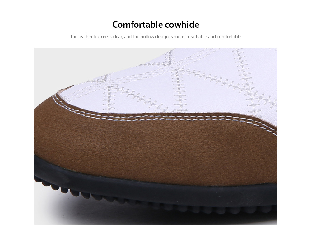 Men's Business Casual Leather Lace Shoes Comfortable cowhide