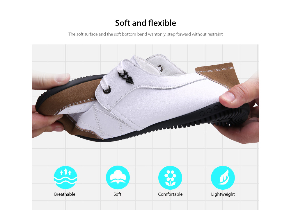 Men's Business Casual Leather Lace Shoes Soft and flexible
