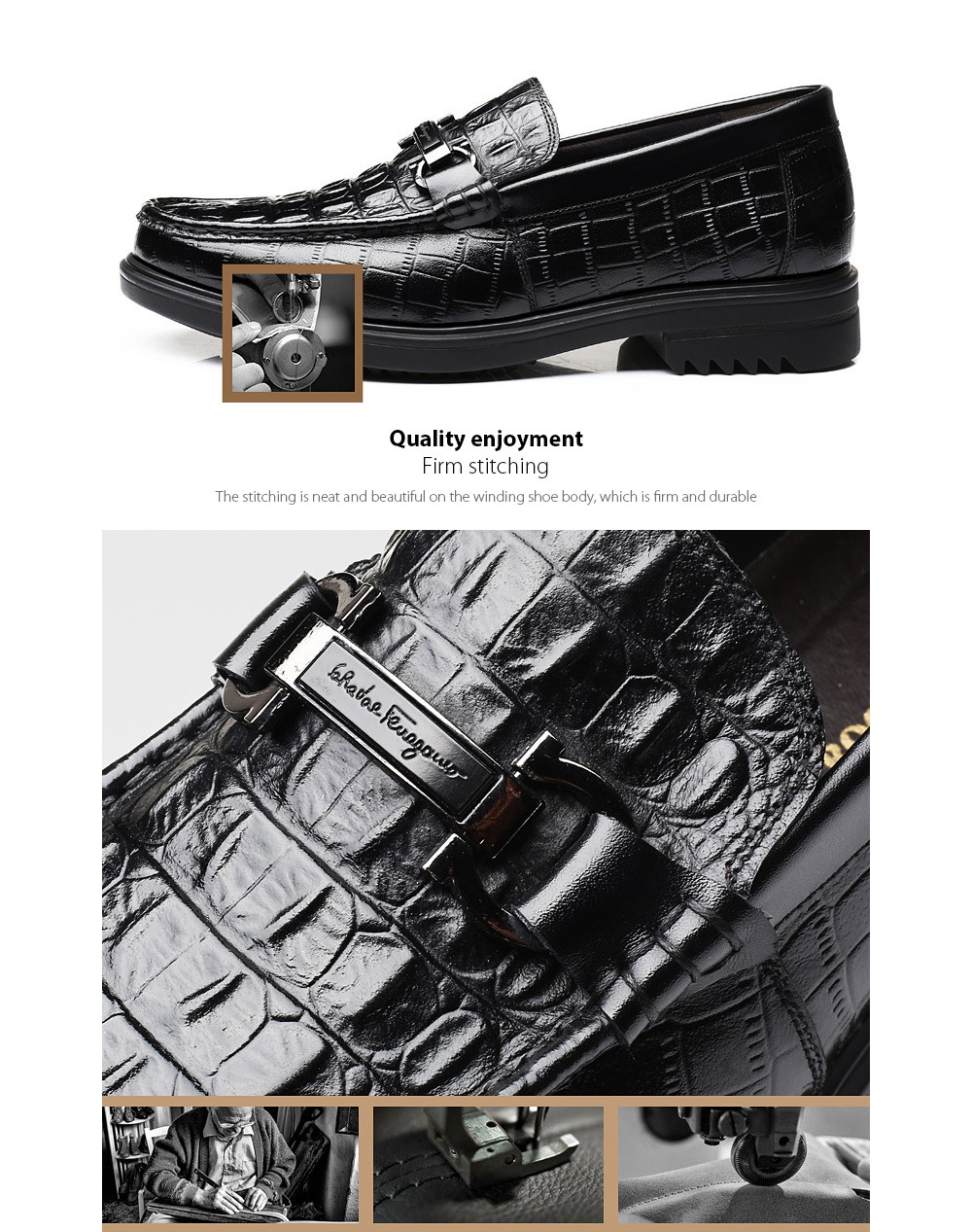 Men Shoes Firm stitching