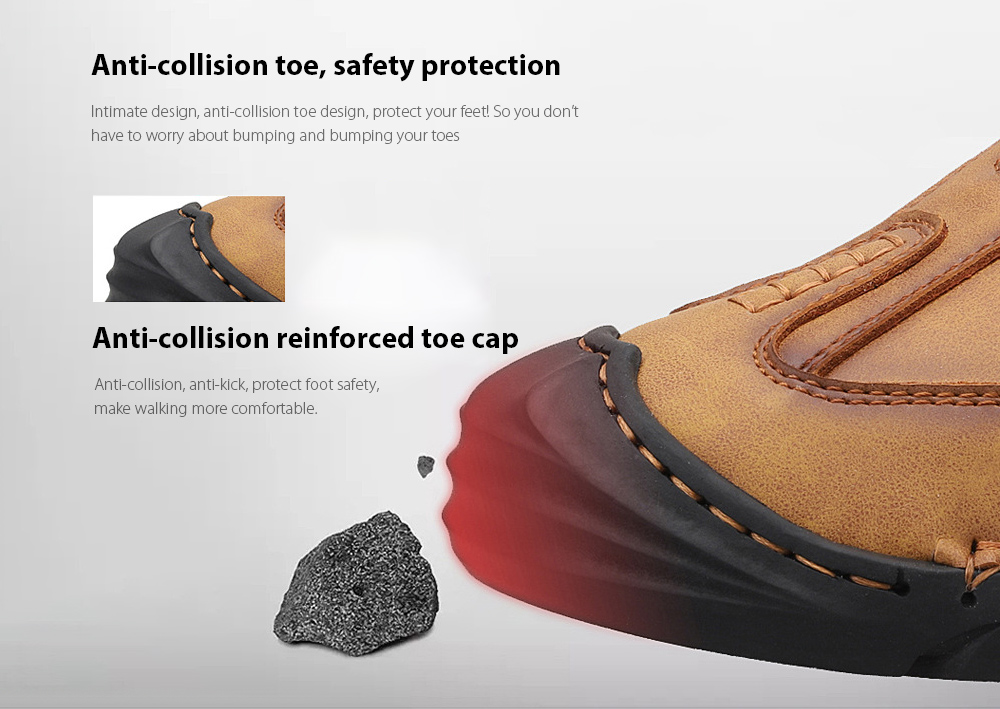 Men's High Boots Anti-collision toe, safety protection
