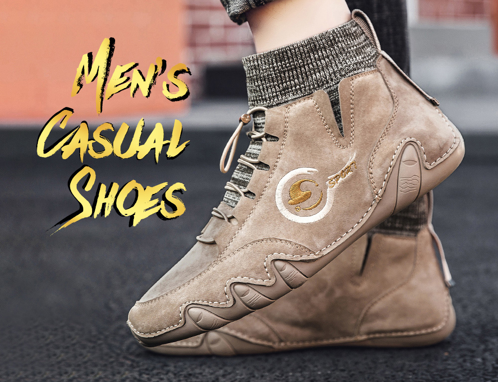 IZZUMI Fashion Casual Men Leather Shoes
