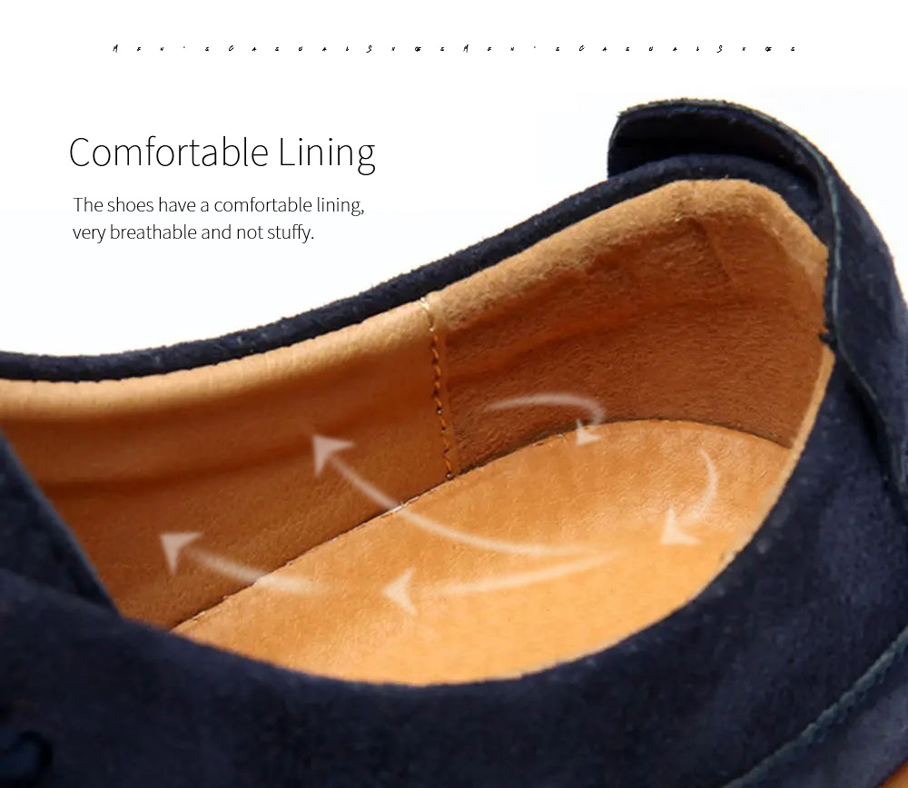 Spring And Autumn Men's Casual Leather Shoes Lining