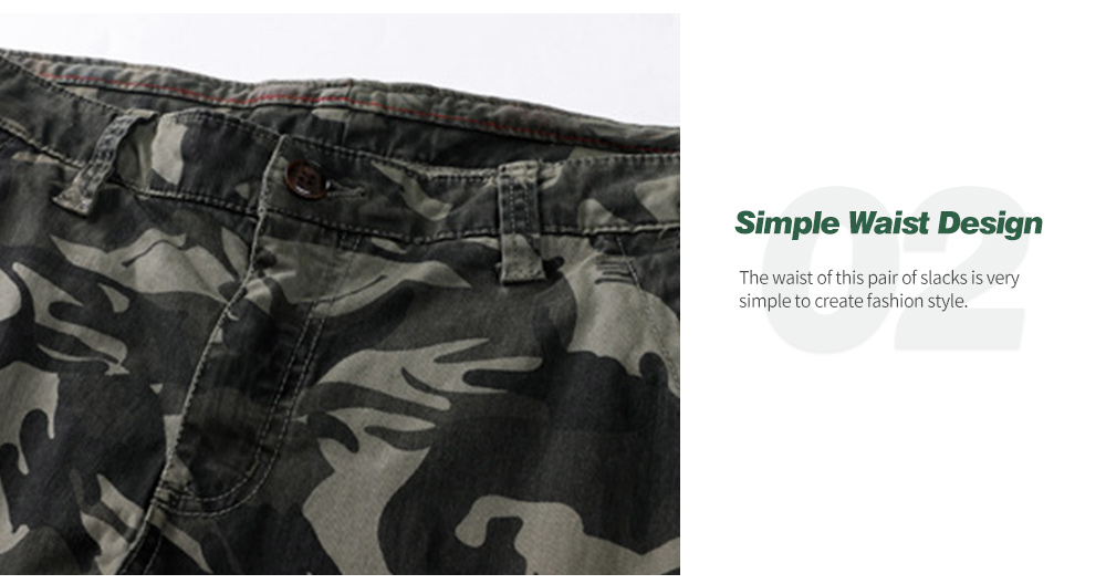 Fall Men's Casual Camouflage Pants Waist