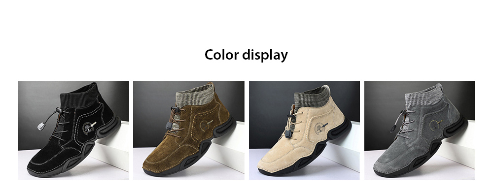 IZZUMI Mid-high Top Men Leather Casual Shoes color