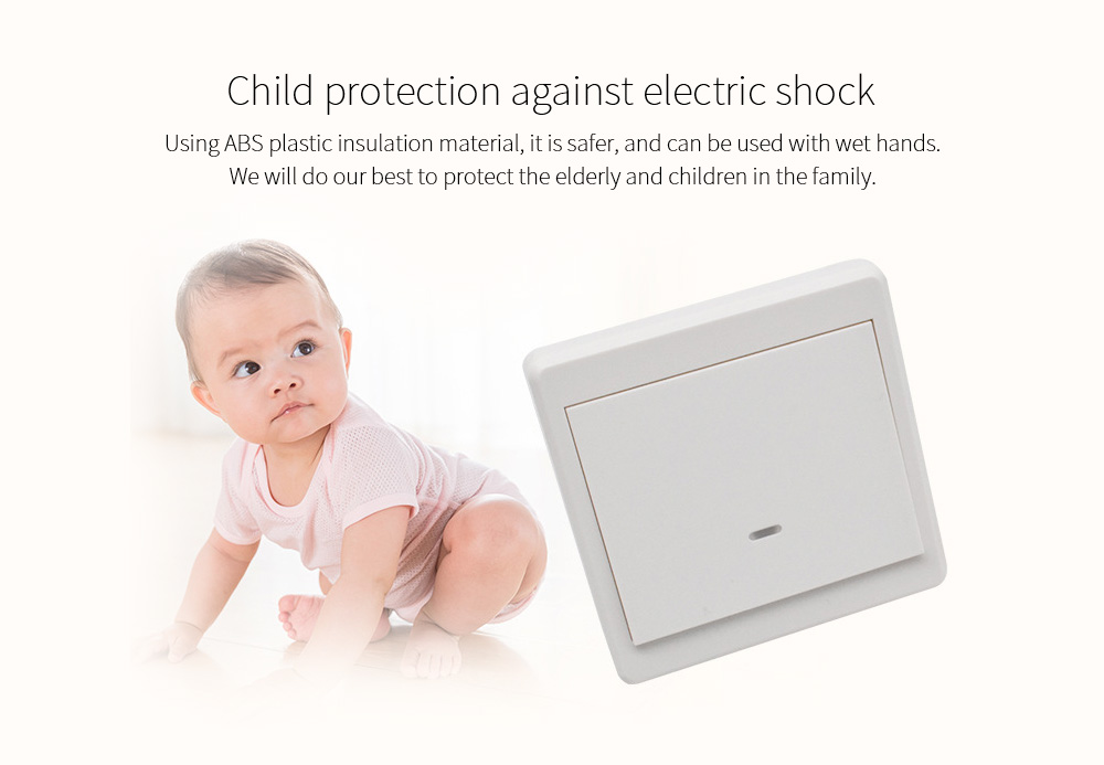 Wiring-free Smart Wireless Remote Control Switch Child protection against electric shock