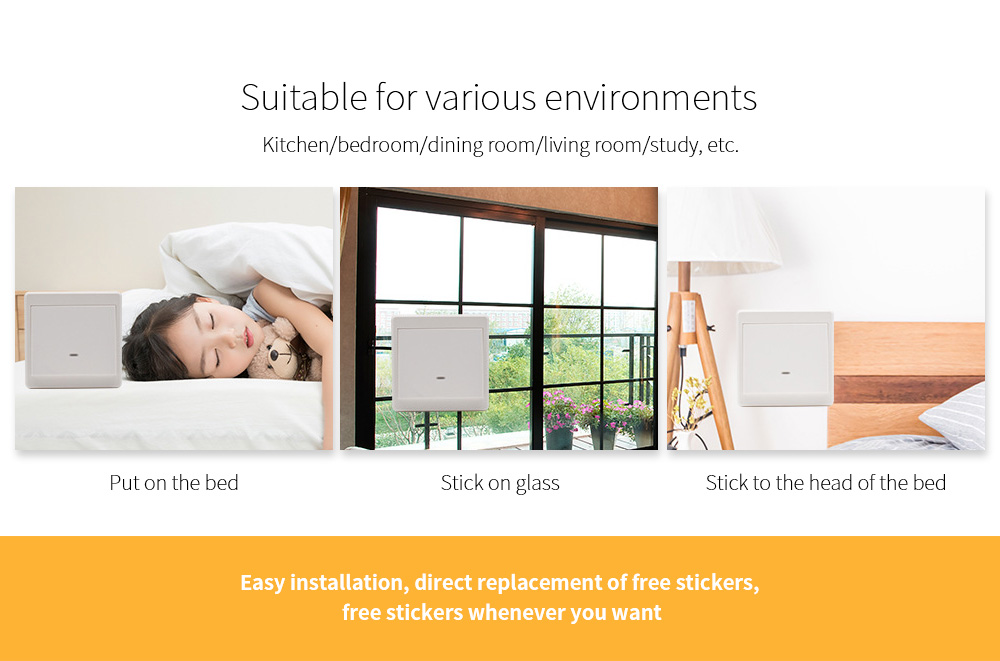 Wiring-free Smart Wireless Remote Control Switch Suitable for various environments