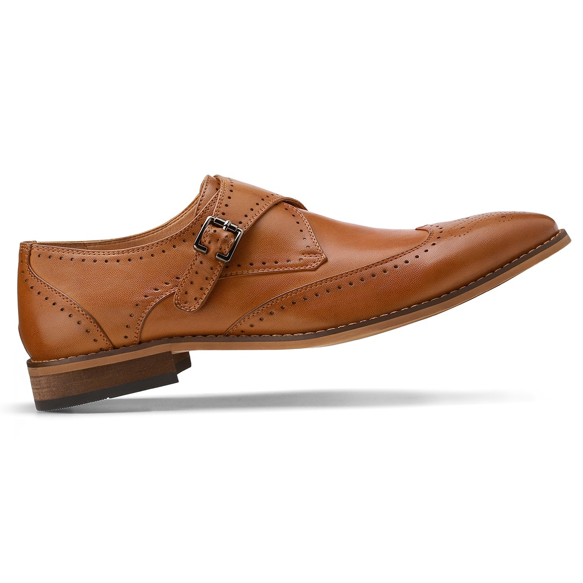 GM Golaiman G1413 Men Leather Shoes Business Shoes Comfortable Skin-friendly - Brown US 13