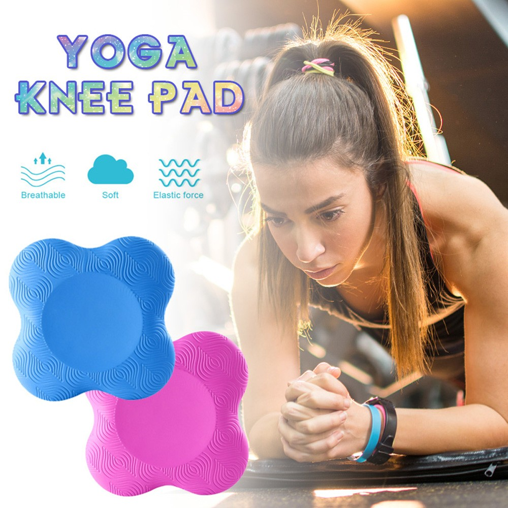 PU Yoga Knee Pad - Light Sky Blue