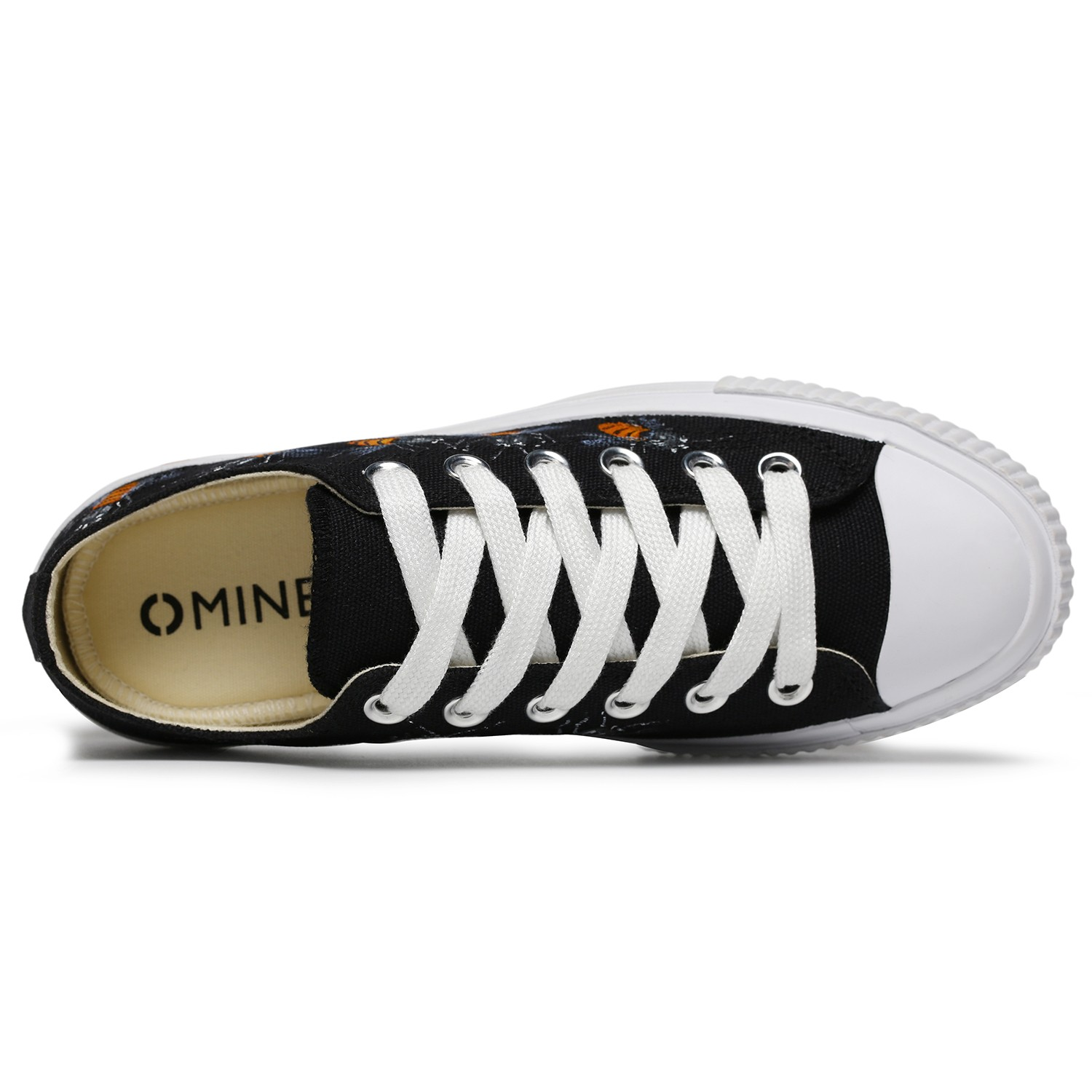 Omine WP2001 Flat Shoes Men Painted Shoes Creative Fashion Comfortable - Black US 11