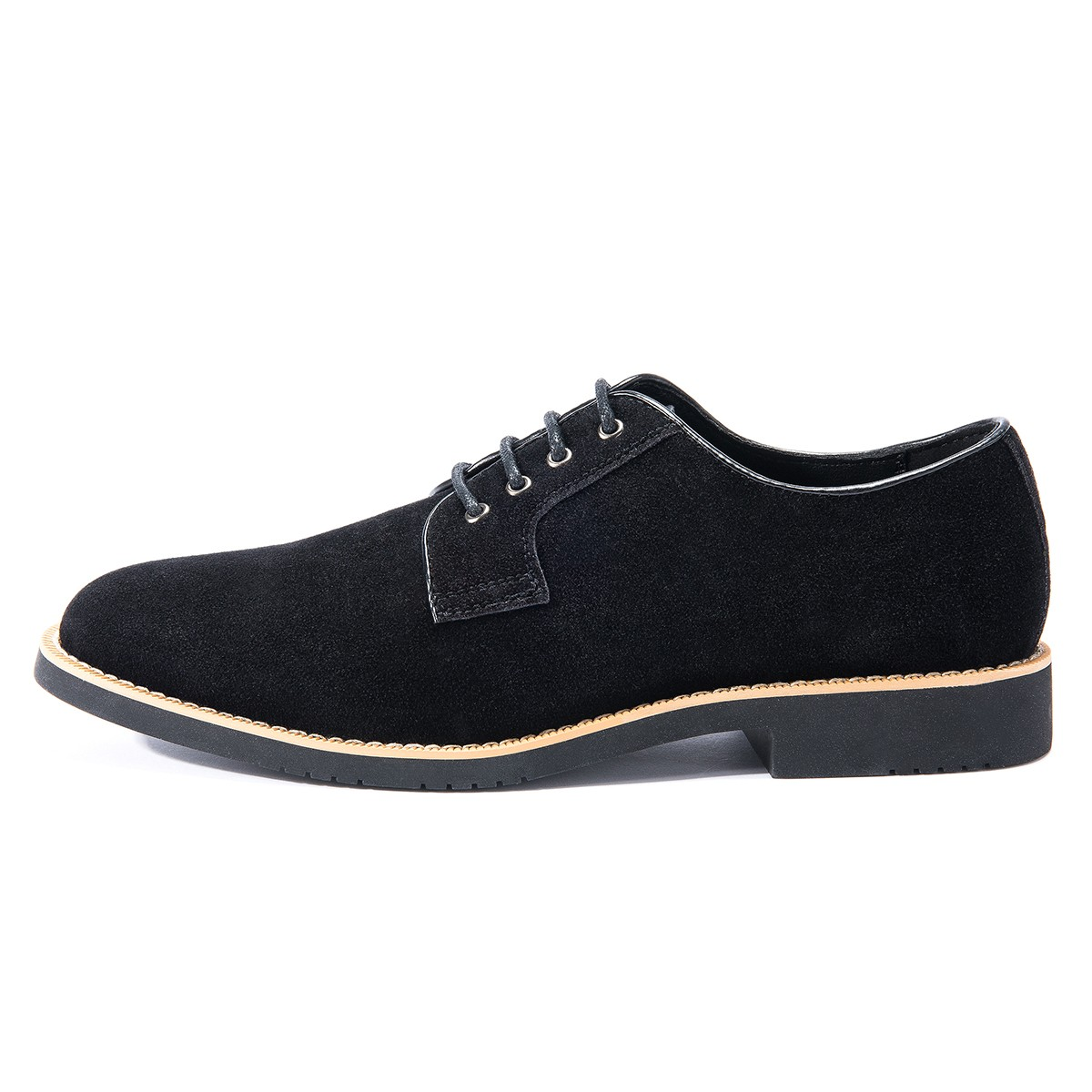 GM Golaiman GM14 Men Casual Leather Shoes - Black US 12