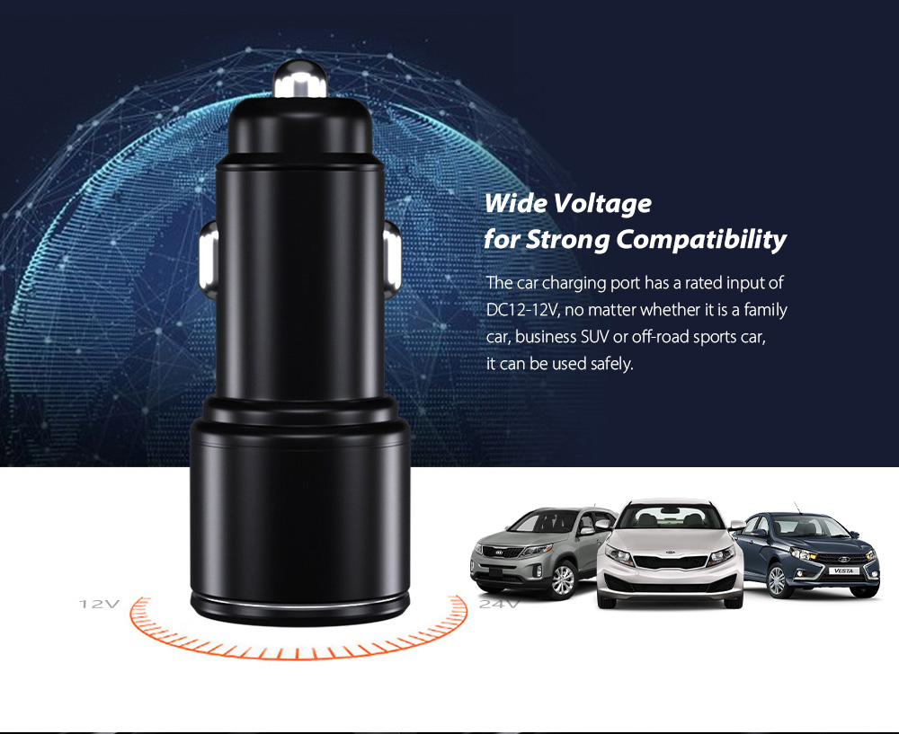 Car Charger Fast Charging QC3.0 Car Cigarette Lighter Compatibility