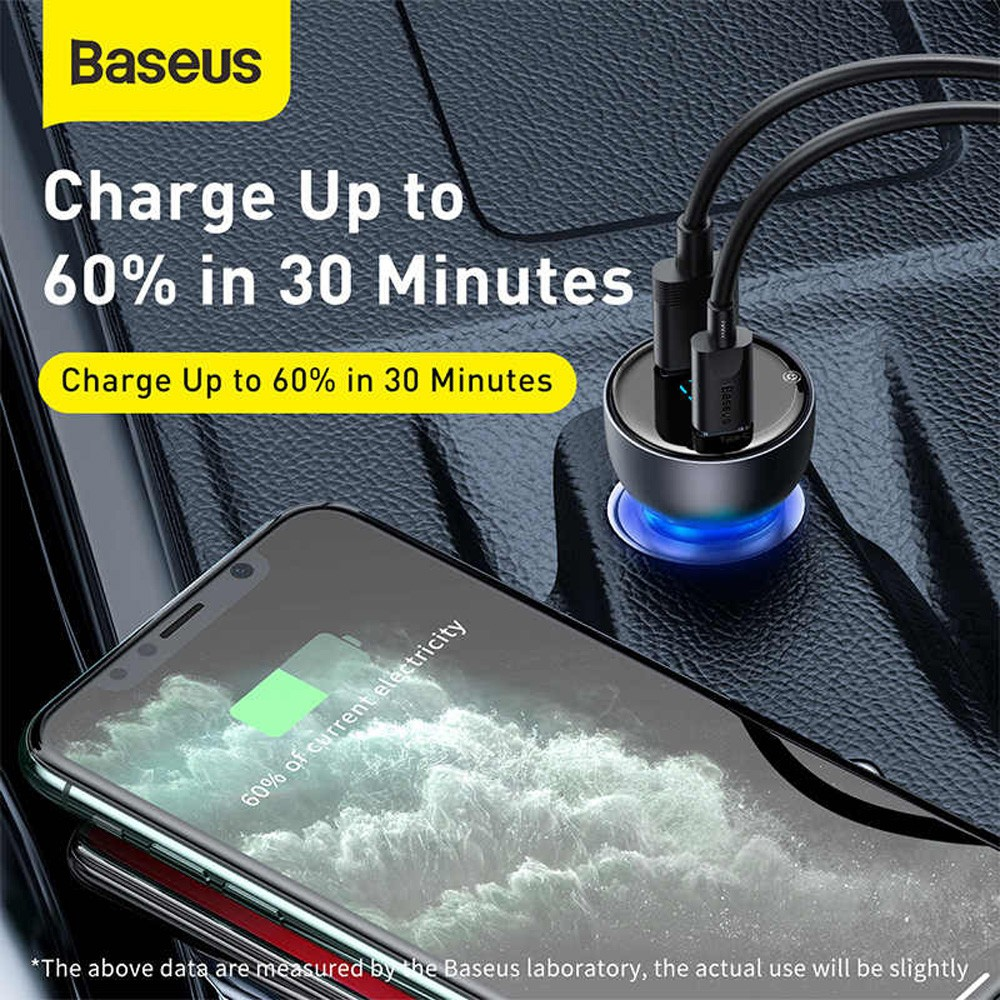 Baseus VCKX65C Car Charger - Concord