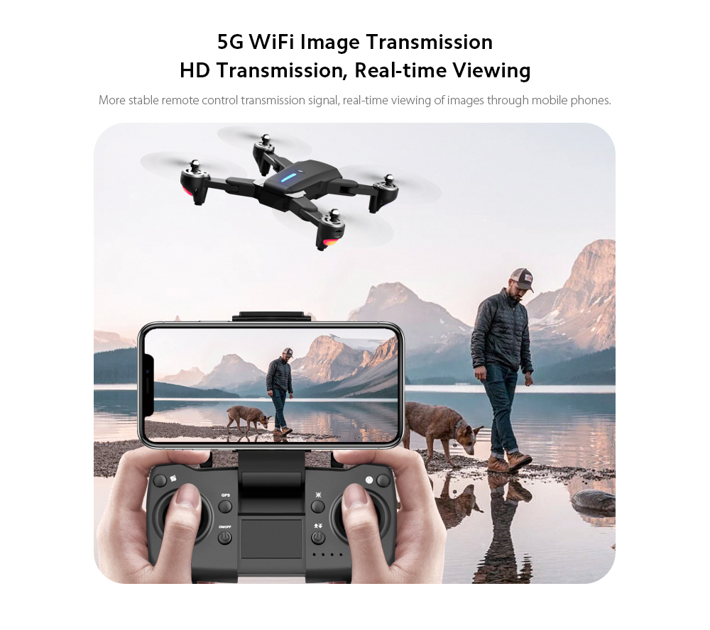 GP1 Drone HD 6K Professional Aerial Photography Remote Control Aircraft - 6K Double Camera With Electric Ton 5G WiFi Image Transmission