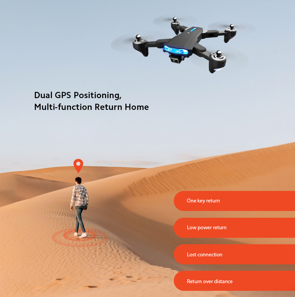 GP1 Drone HD 6K Professional Aerial Photography Remote Control Aircraft - 6K Double Camera With Electric Ton Dual GPS Positioning, Multi-function Return Home